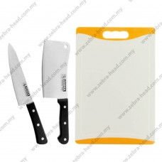 """6.5"""" & 7"""" 2 Pcs Chef Knife With Cutting Board Set"""
