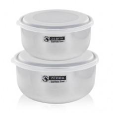 *12&14cm Food Storage Set W/2Pcs Plastic Lid