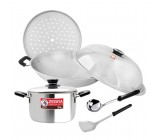 *42cm 5-Ply Chinese Wok Set + 24cm Buddy Sauce Pot + 3.5'' Focus Chinese Ladle
